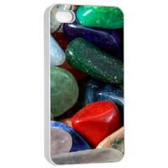 Stones Colors Pattern Pebbles Macro Rocks Apple Iphone 4/4s Seamless Case (white)