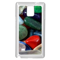 Stones Colors Pattern Pebbles Macro Rocks Samsung Galaxy Note 4 Case (white)
