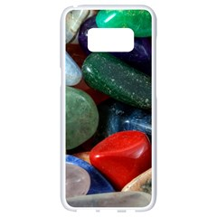 Stones Colors Pattern Pebbles Macro Rocks Samsung Galaxy S8 White Seamless Case