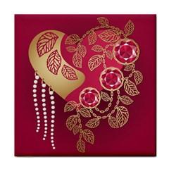 Love Heart Tile Coasters
