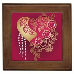 Love Heart Framed Tiles