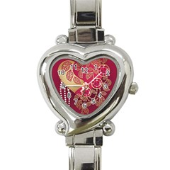 Love Heart Heart Italian Charm Watch