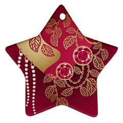 Love Heart Star Ornament (two Sides)