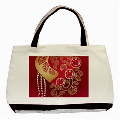 Love Heart Basic Tote Bag (two Sides)