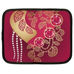 Love Heart Netbook Case (xl)