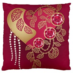 Love Heart Large Cushion Case (one Side)