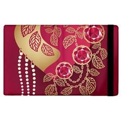 Love Heart Apple Ipad 3/4 Flip Case