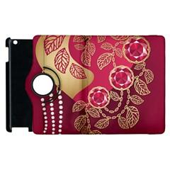 Love Heart Apple Ipad 2 Flip 360 Case