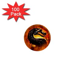Dragon And Fire 1  Mini Buttons (100 Pack)