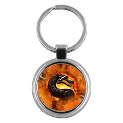 Dragon And Fire Key Chains (round)