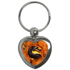 Dragon And Fire Key Chains (heart)