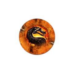 Dragon And Fire Golf Ball Marker (4 Pack)