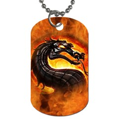 Dragon And Fire Dog Tag (two Sides)