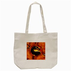 Dragon And Fire Tote Bag (cream)