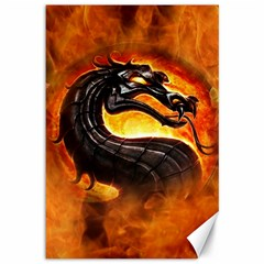 Dragon And Fire Canvas 12  X 18