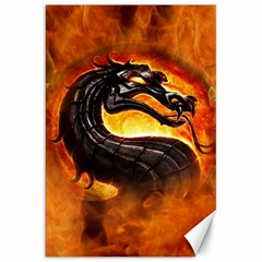 Dragon And Fire Canvas 20  X 30