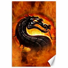 Dragon And Fire Canvas 24  X 36
