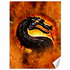 Dragon And Fire Canvas 36  X 48