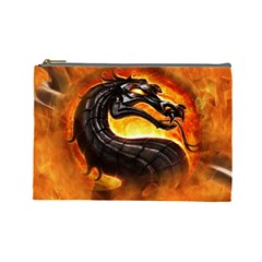 Dragon And Fire Cosmetic Bag (large)