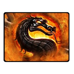 Dragon And Fire Fleece Blanket (small)