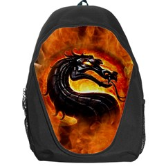 Dragon And Fire Backpack Bag