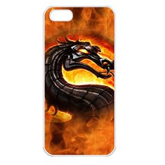 Dragon And Fire Apple Iphone 5 Seamless Case (white)