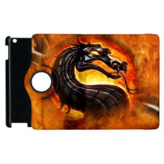 Dragon And Fire Apple Ipad 2 Flip 360 Case