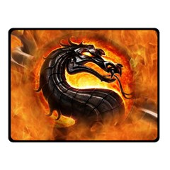 Dragon And Fire Double Sided Fleece Blanket (small)
