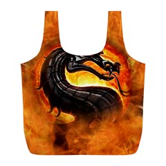 Dragon And Fire Full Print Recycle Bags (l)