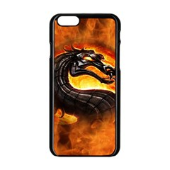 Dragon And Fire Apple Iphone 6/6s Black Enamel Case
