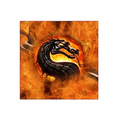 Dragon And Fire Satin Bandana Scarf