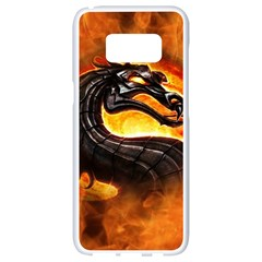 Dragon And Fire Samsung Galaxy S8 White Seamless Case