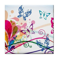 Butterfly Vector Art Tile Coasters