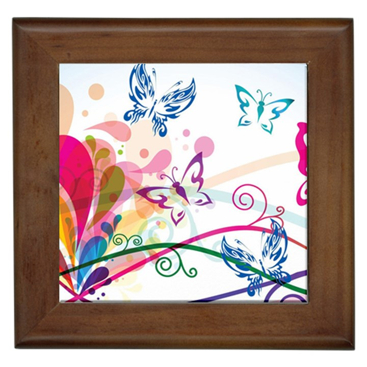 Butterfly Vector Art Framed Tiles