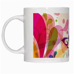Butterfly Vector Art White Mugs