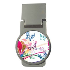 Butterfly Vector Art Money Clips (round)