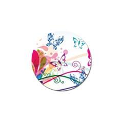 Butterfly Vector Art Golf Ball Marker