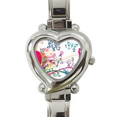 Butterfly Vector Art Heart Italian Charm Watch