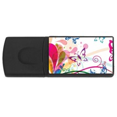 Butterfly Vector Art Rectangular Usb Flash Drive