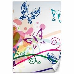 Butterfly Vector Art Canvas 24  X 36