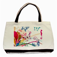 Butterfly Vector Art Basic Tote Bag (two Sides)