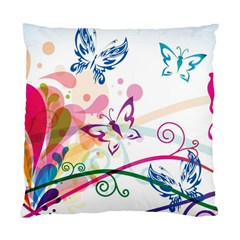 Butterfly Vector Art Standard Cushion Case (two Sides)