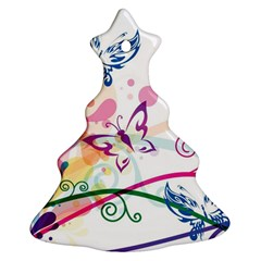 Butterfly Vector Art Ornament (christmas Tree)
