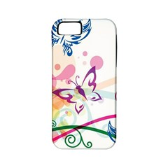 Butterfly Vector Art Apple Iphone 5 Classic Hardshell Case (pc+silicone)