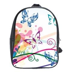 Butterfly Vector Art School Bags (xl)