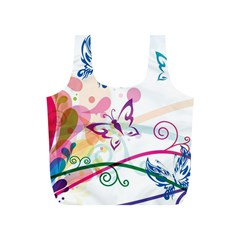 Butterfly Vector Art Full Print Recycle Bags (s)