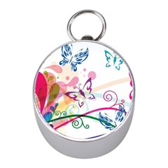 Butterfly Vector Art Mini Silver Compasses