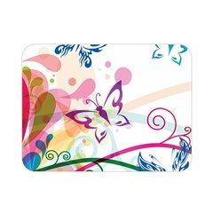 Butterfly Vector Art Double Sided Flano Blanket (mini)
