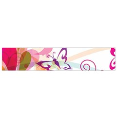 Butterfly Vector Art Flano Scarf (small)