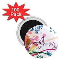 Butterfly Vector Art 1 75  Magnets (100 Pack)